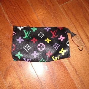 Black and colorful Louis Vuitton coin wallet